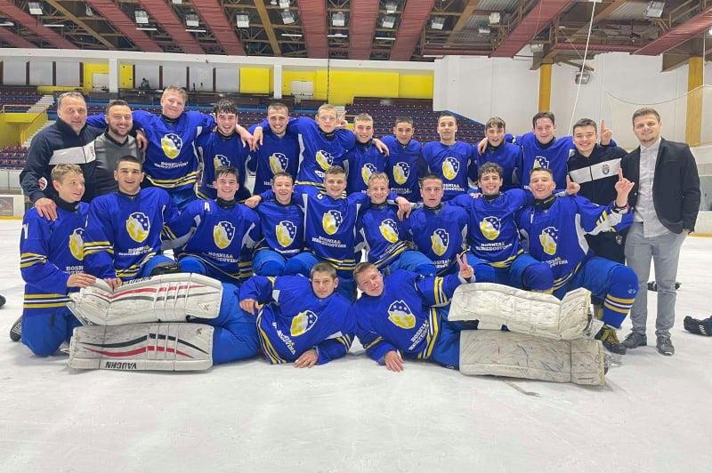 Our students' debut in junior hockey team of B&H was a historic win!